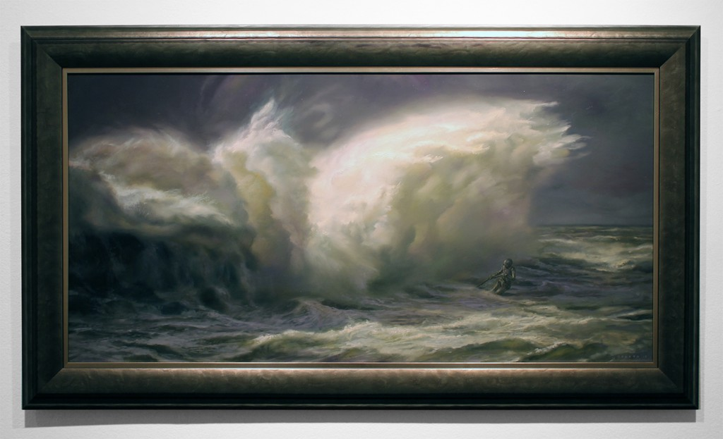 Donato  Giancola -  <strong>Breaker</strong> (2015<strong style = 'color:#635a27'></strong>)<bR /> oil on panel,   48 x 24 inches  (121.92 x 60.96 cm)