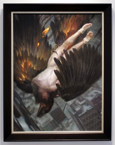 Donato  Giancola -  <strong>Promethean Costs</strong> (2015<strong style = 'color:#635a27'></strong>)<bR /> oil on panel,   36 x 48 inches  (91.44 x 121.92 cm)