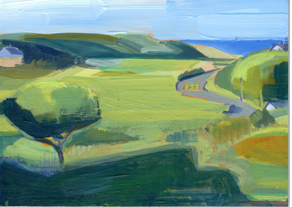 The Panorama Project  &nbsp -  <strong>Johanna Goodman,</strong> (2008<strong style = 'color:#635a27'></strong>)<bR /> Acrylic on board,   5 x 7 inches