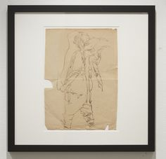Phil  Hale -  <strong>Study for Life Wants to Live</strong> (2014<strong style = 'color:#635a27'></strong>)<bR /> (13),   collaged pencil on re-purposed prints