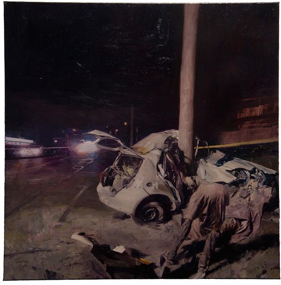 Phil  Hale -  <strong>Life Wants to Live</strong> (2014<strong style = 'color:#635a27'></strong>)<bR /> (9),   oil on linen,   54 x 54 inches  (137.16 x 137.16 cm)