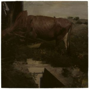 Phil  Hale -  <strong>Life Wants to Live</strong> (2014<strong style = 'color:#635a27'></strong>)<bR /> (10),   oil on linen,   54 x 54 inches  (137.16 x 137.16 cm)