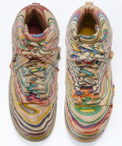 Haroshi  &nbsp -  <strong>Nike SB Dunk</strong> (2010<strong style = 'color:#635a27'></strong>)<bR /> used skateboards,   6 x 4 x 11 inches, each  (15.24 x 10.16 x 27.94 cm),   <em>