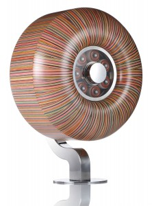Haroshi   -  <strong>SpitFire Classic 53c</strong> (2012<strong style = 'color:#635a27'></strong>)<bR /> mixed media (used skateboard parts),   20.875 x 20.875 x 13.75 inches  (53 x 53 x 35 cm)