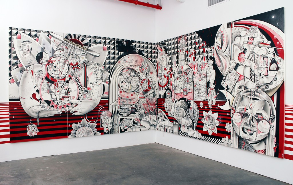 How & Nosm  &nbsp -  <strong>Live and Tell (installation view)</strong> (<strong style = 'color:#635a27'></strong>)<bR />