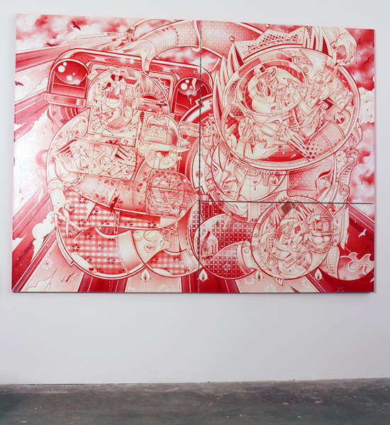 How & Nosm  &nbsp -  <strong>Red Rain (installation view)</strong> (<strong style = 'color:#635a27'></strong>)<bR />