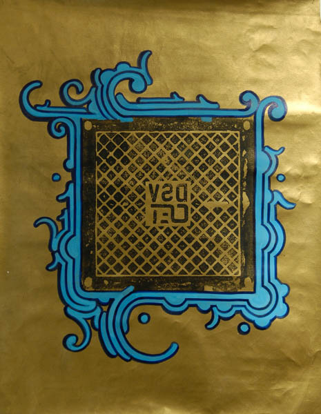 Zezão  &nbsp -  <strong>DSV</strong> (<strong style = 'color:#635a27'></strong>)<bR /> Mixed Media on Canvas,   42 x 32 inches