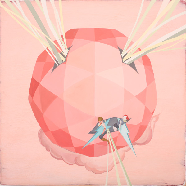 Matt  Haber -  <strong>Heavens 1</strong> (2007<strong style = 'color:#635a27'></strong>)<bR /> Acrylic on Panel,   20 x 20 inches