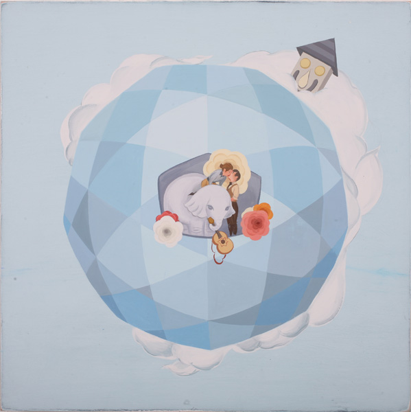 Matt  Haber -  <strong>Heavens 2</strong> (2007<strong style = 'color:#635a27'></strong>)<bR /> Acrylic on Panel,   20 x 20 inches