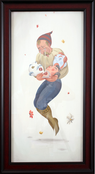 Matt  Haber -  <strong>Fallen Comrades</strong> (2007<strong style = 'color:#635a27'></strong>)<bR /> Acrylic on Panel,   Framed size: 27 x 15 inches
