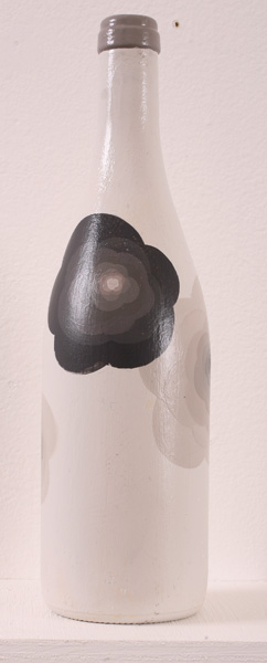 Matt  Haber -  <strong>Untitled 1</strong> (2007<strong style = 'color:#635a27'></strong>)<bR /> Acrylic on bottle,   11 1/2 x 4 x 4 inches