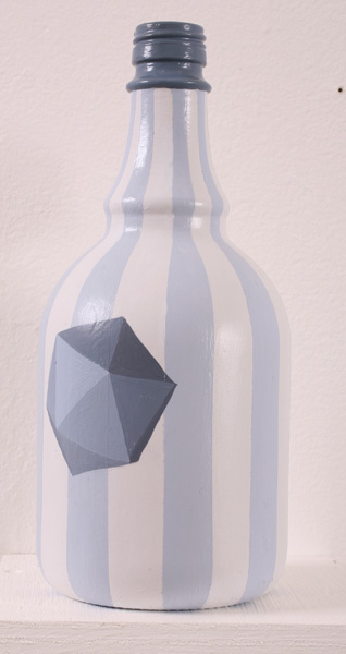 Matt  Haber -  <strong>Untitled 4</strong> (2007<strong style = 'color:#635a27'></strong>)<bR /> Acrylic on bottle,   11 x 4 x 4 inches