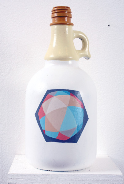 Matt  Haber -  <strong>Untitled 3</strong> (2007<strong style = 'color:#635a27'></strong>)<bR /> Acrylic on bottle,   10 x 4 x 4 inches