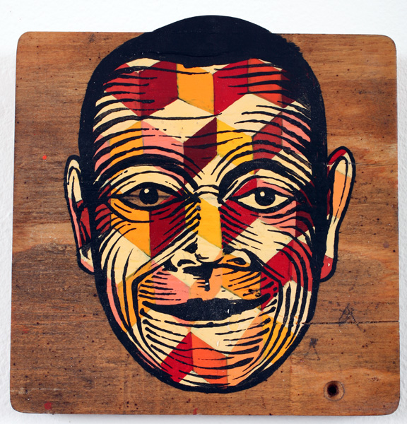 AJ  Fosik -  <strong>Untitled</strong> (2007<strong style = 'color:#635a27'></strong>)<bR /> Enamel on Wood,   7 1/4 x 7 inches