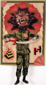 AJ  Fosik -  <strong>Untitled</strong> (2007<strong style = 'color:#635a27'></strong>)<bR /> Mixed Media,   39 x 19 1/2 x 6 inches