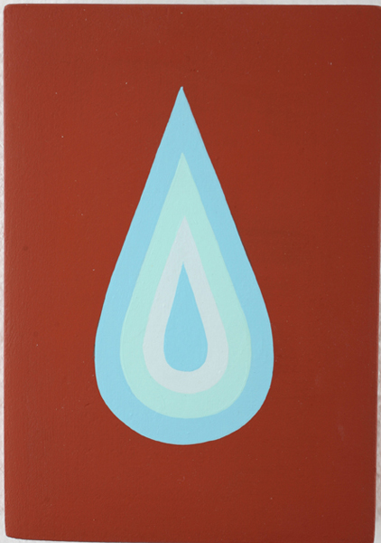Jim  Houser -  <strong>Salt Water</strong> (2007<strong style = 'color:#635a27'></strong>)<bR /> Acrylic on wood,   6 x 4 1/2 inches