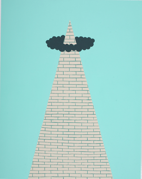 Jim  Houser -  <strong>Babel</strong> (2007<strong style = 'color:#635a27'></strong>)<bR /> Acrylic on wood,   14 x 11 inches