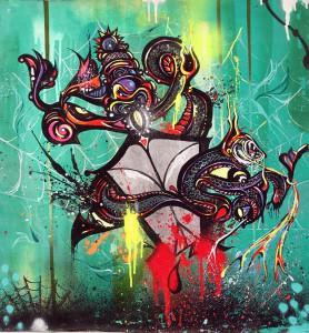Boleta   -  <strong>Green</strong> (<strong style = 'color:#635a27'></strong>)<bR /> Mixed Media on Canvas