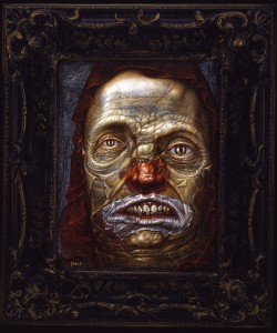 Chris  Mars -  <strong>Identity Peel</strong> (2005<strong style = 'color:#635a27'></strong>)<bR /> oil on panel,   18 x 14 inches