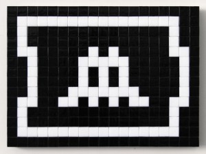 Invader    -  <strong>Alias LA_140 (Los Angeles)</strong> (2011<strong style = 'color:#635a27'></strong>)<bR /> ceramic tiles on panel,   11 x 15 inches  (28 x 38 cm)