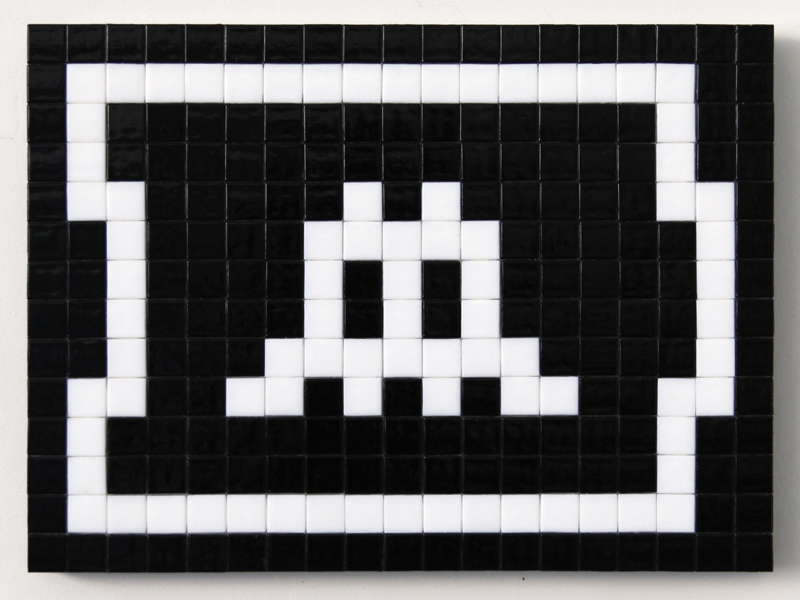 Invader  &nbsp -  <strong>Alias LA_140 (Los Angeles)</strong> (2011<strong style = 'color:#635a27'></strong>)<bR /> ceramic tiles on panel,   11 x 15 inches  (28 x 38 cm)