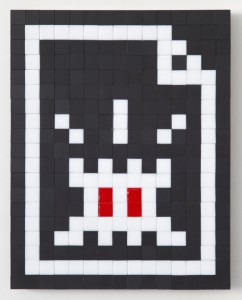 Invader   -  <strong>Alias LDN_116 (London)</strong> (2011<strong style = 'color:#635a27'></strong>)<bR /> ceramic tiles on panel,   15 x 11.75 inches  (38 x 30 cm)