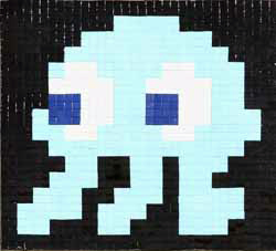 Invader   -  <strong>Alias NY_88 (New York)</strong> (2011<strong style = 'color:#635a27'></strong>)<bR /> ceramic tiles on panel,   25.25 x 26.75 inches  (64 x 68 cm)