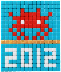 Invader    -  <strong>Alias MIA_29</strong> (2012<strong style = 'color:#635a27'></strong>)<bR /> ceramic tiles on panel,   7.125 x 5.875 inches  (18 x 15 cm)