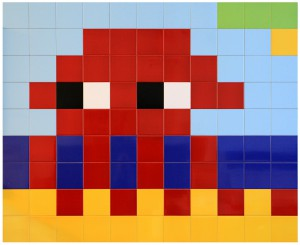 Invader    -  <strong>Alias MIA_46</strong> (2012<strong style = 'color:#635a27'></strong>)<bR /> ceramic tiles on panel,   53.125 x 65 inches  (135 x 165 cm)