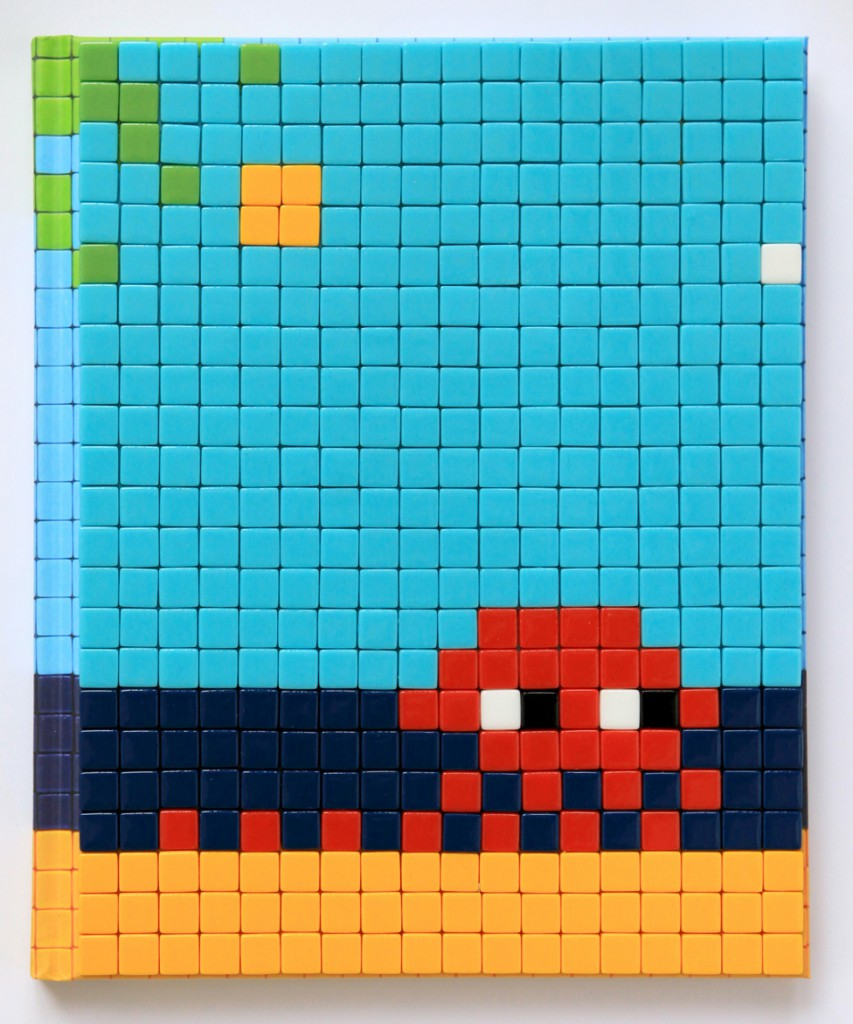 Invader  &nbsp -  <strong>Mission Miami Mosaic Cover 13</strong> (2012<strong style = 'color:#635a27'></strong>)<bR /> 414 micro mosaic tiles on hardcover book in custom plexiglass case,   9.25 x 7.625 inches  (23.5 x 19.37 cm)