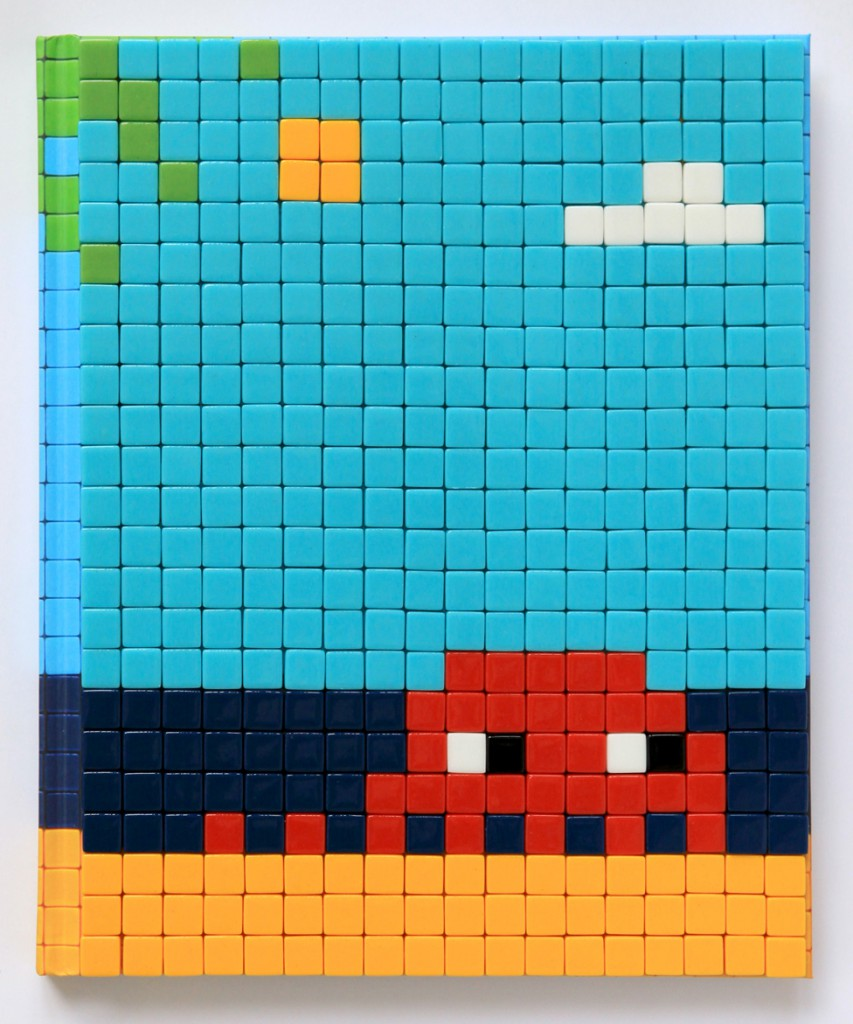 Invader  &nbsp -  <strong>Mission Miami Mosaic Cover 18</strong> (2012<strong style = 'color:#635a27'></strong>)<bR /> 414 micro mosaic tiles on hardcover book in custom plexiglass case,   9.25 x 7.625 inches  (23.5 x 19.37 cm)