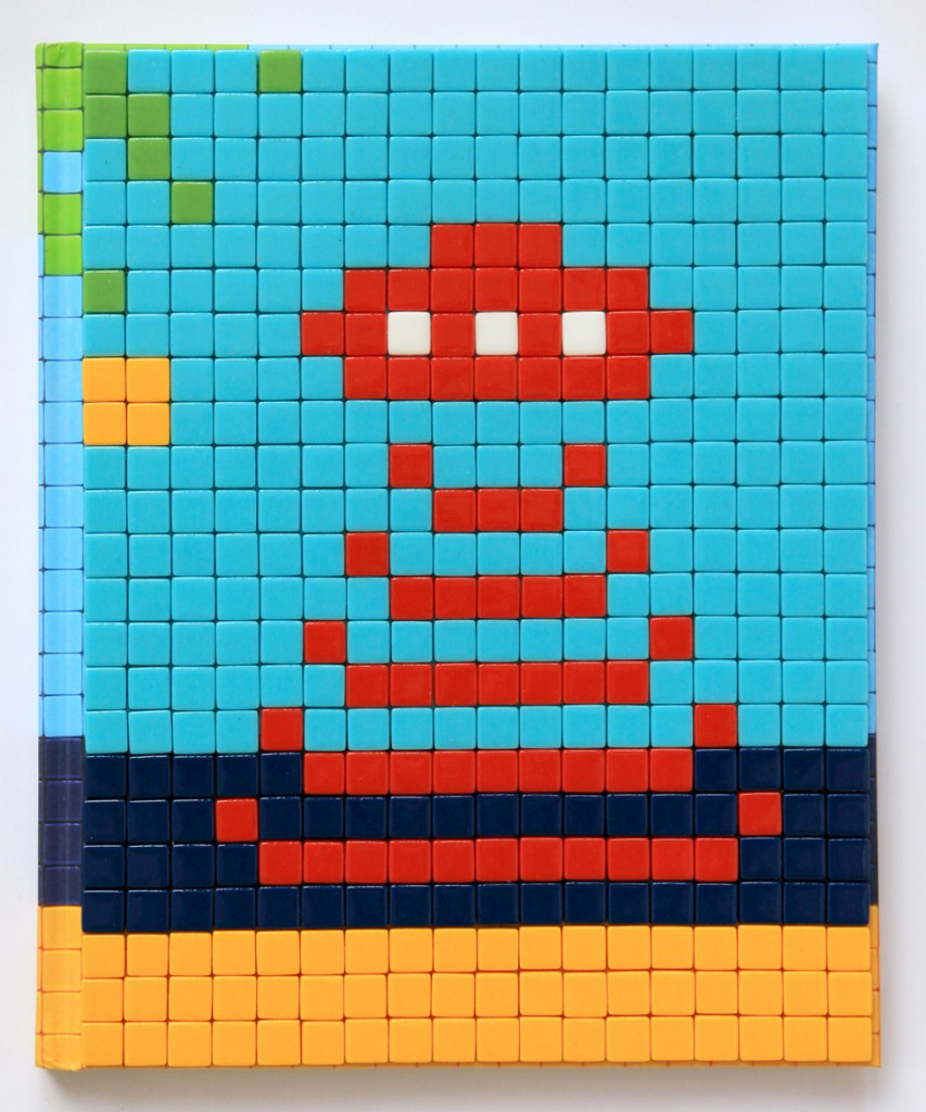 Invader  &nbsp -  <strong>Mission Miami Mosaic Cover 4</strong> (2012<strong style = 'color:#635a27'></strong>)<bR /> 414 micro mosaic tiles on hardcover book in custom plexiglass case,   9.25 x 7.625 inches  (23.5 x 19.37 cm)
