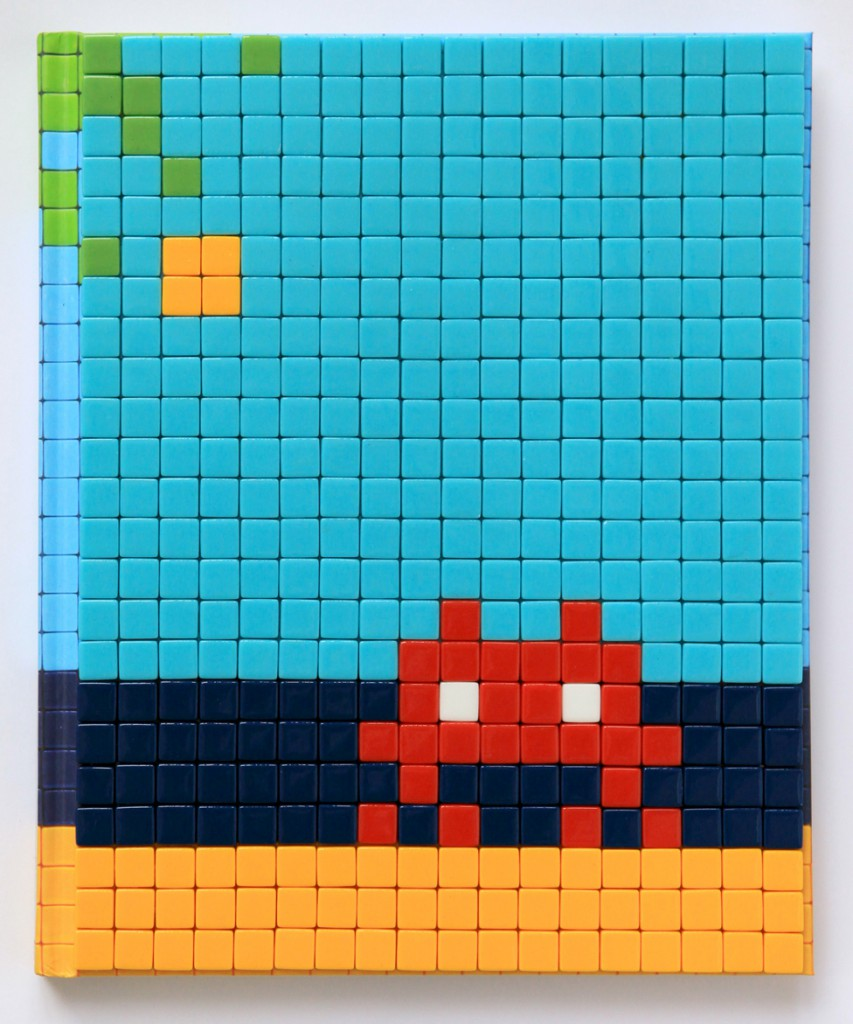 Invader  &nbsp -  <strong>Mission Miami Mosaic Cover 7</strong> (2012<strong style = 'color:#635a27'></strong>)<bR /> 414 micro mosaic tiles on hardcover book in custom plexiglass case,   9.25 x 7.625 inches  (23.5 x 19.37 cm)