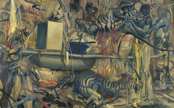 James  Jean -  <strong>Hunting Party (DETAIL) panel 2</strong> (<strong style = 'color:#635a27'></strong>)<bR />