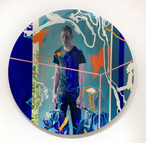 James  Jean -  <strong>Jared</strong> (2012<strong style = 'color:#635a27'></strong>)<bR /> acrylic and oil on canvas mounted on wood panel,   72 inches, diameter  (182.88 cm, diameter)