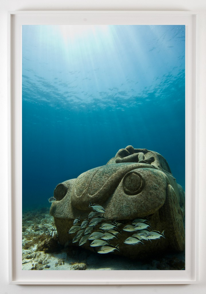 Jason  deCaires Taylor -  <strong>Anthroposcene</strong> (2012<strong style = 'color:#635a27'></strong>)<bR /> digital C print,   60 x 40 inches  (152.4 x 101.6 cm)  67 x 47 x 2.25 inches, framed,   Edition of 3