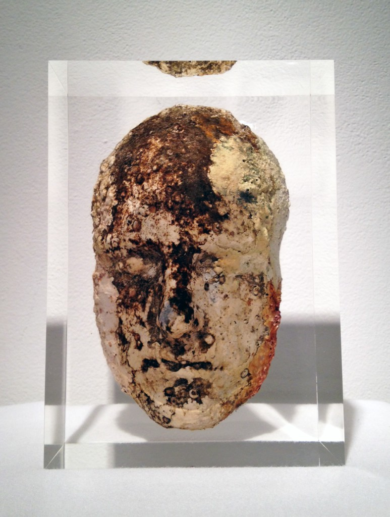 Jason  deCaires Taylor -  <strong>Head 1</strong> (2012<strong style = 'color:#635a27'></strong>)<bR /> cement and resin,   11 x 8 x 5 inches  (27.94 x 20.32 x 12.7 cm)