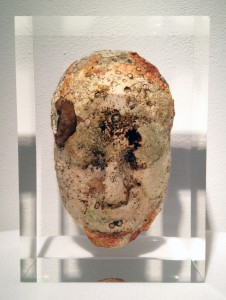Jason  deCaires Taylor -  <strong>Head 3</strong> (2012<strong style = 'color:#635a27'></strong>)<bR /> cement and resin,   11 x 8 x 5 inches  (27.94 x 20.32 x 12.7 cm)