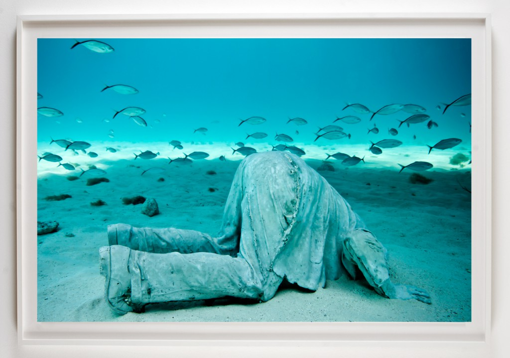 Jason  deCaires Taylor -  <strong>La Promesa</strong> (2012<strong style = 'color:#635a27'></strong>)<bR /> digital C print,   30 x 45 inches  (76.2 x 114.3 cm)  39 x 52 x 1.5 inches, framed,   Edition of 5