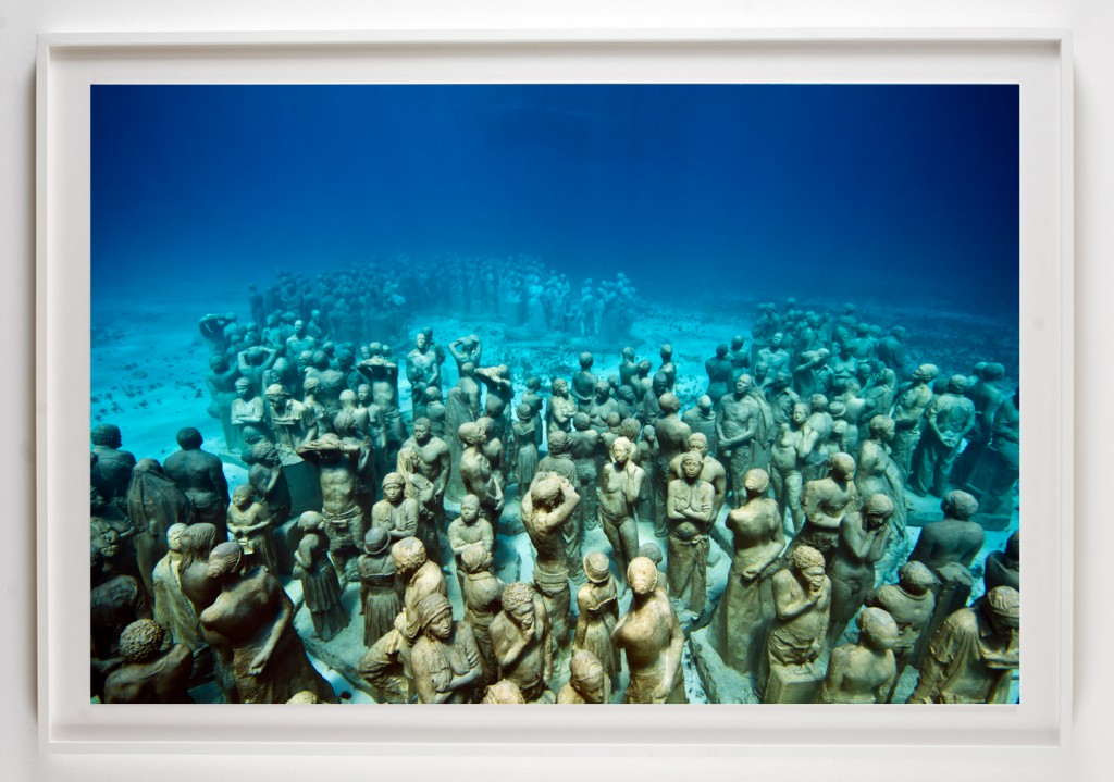 Jason  deCaires Taylor -  <strong>Silent Evolution 1</strong> (2012<strong style = 'color:#635a27'></strong>)<bR /> digital C print,   48 x 72 inches  (121.92 x 182.88 cm)  55 x 79 x 2.25 inches, framed,   Edition of 3