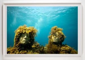 Jason  deCaires Taylor -  <strong>Silent Evolution 2</strong> (2011<strong style = 'color:#635a27'></strong>)<bR /> digital C print,   20 x 30 inches  (50.8 x 76.2 cm)  27 x 37 x 1.5 inches, framed,   Edition of 5