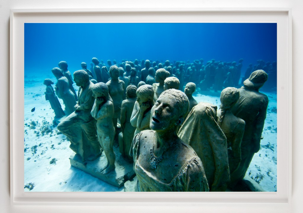Jason  deCaires Taylor -  <strong>Silent Evolution 4</strong> (2012<strong style = 'color:#635a27'></strong>)<bR /> digital C print,   30 x 45 inches  (76.2 x 114.3 cm)  39 x 52 x 1.5 inches, framed,   Edition of 5