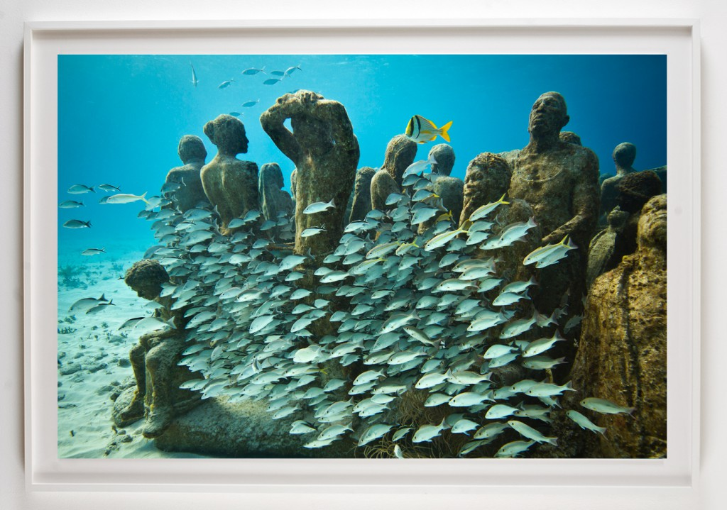 Jason  deCaires Taylor -  <strong>Silent Evolution 5</strong> (2012<strong style = 'color:#635a27'></strong>)<bR /> digital C print,   30 x 45 inches  (76.2 x 114.3 cm)  39 x 52 x 1.5 inches, framed,   Edition of 5