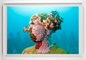 Jason  deCaires Taylor -  <strong>Vicissitudes 1</strong> (2011<strong style = 'color:#635a27'></strong>)<bR /> digital C print,   20 x 30 inches  (50.8 x 76.2 cm)  27 x 37 x 1.5 inches, framed,   Edition of 5
