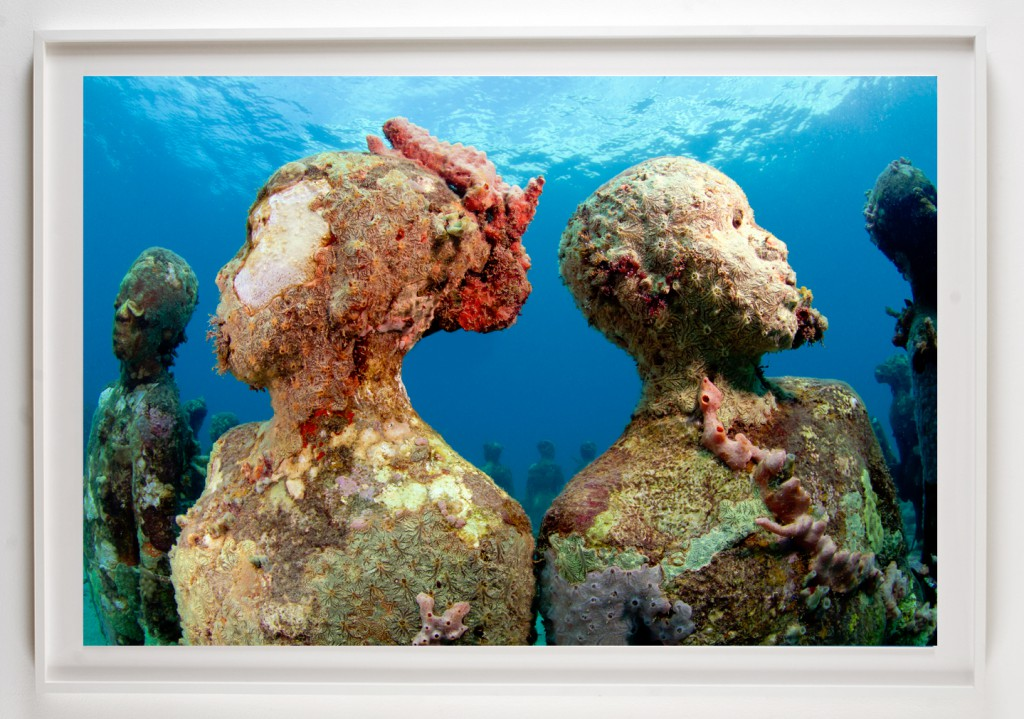 Jason  deCaires Taylor -  <strong>Vicissitudes 3</strong> (2012<strong style = 'color:#635a27'></strong>)<bR /> digital C print,   30 x 45 inches  (76.2 x 114.3 cm)  39 x 52 x 1.5 inches, framed,   Edition of 5