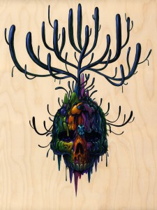 Jeff  Soto -  <strong>Angelo</strong> (2012<strong style = 'color:#635a27'></strong>)<bR /> acrylic on wood panel,   24 x 18 inches  60.96 x 45.72 cm