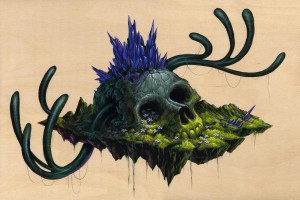 Jeff  Soto -  <strong>Cora</strong> (2012<strong style = 'color:#635a27'></strong>)<bR /> acrylic on wood panel,   12 x 18 inches  30.48 x 45.72 cm