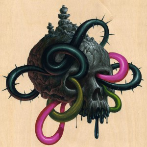 Jeff  Soto -  <strong>Joe</strong> (2012<strong style = 'color:#635a27'></strong>)<bR /> acrylic on wood panel,   12 x 12 inches  30.48 x 30.48 cm
