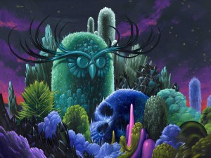 Jeff  Soto -  <strong>Memorial of the Forgotten</strong> (2012<strong style = 'color:#635a27'></strong>)<bR /> acrylic on wood panel,   24 x 18 inches  60.96 x 45.72 cm