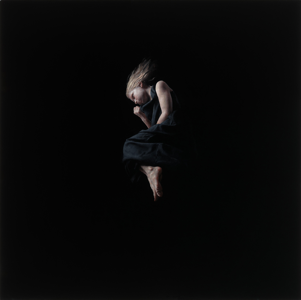 Jeremy  Geddes -  <strong>Misere 1</strong> (2012<strong style = 'color:#635a27'></strong>)<bR /> oil on board,   17.5 x 17.5 inches (44.45 x 44.45 cm)  22.625 x 22.625 x 1.5 inches, framed